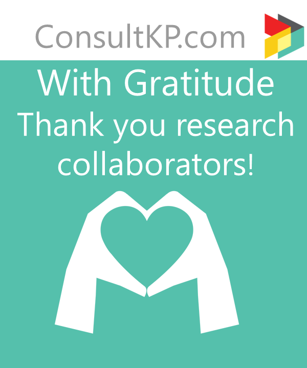 Thank you to my research collaborators!